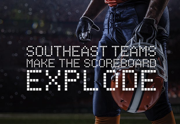 Southeast Teams Make The Scoreboard Explode